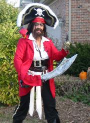 DJ Pearl in pirate costume